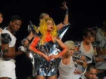 Dame Gaga Live Feb_28_2011 stock fotografie