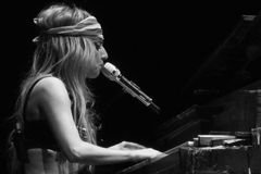 Dame Gaga Live Feb_28_2011 royalty-vrije stock foto