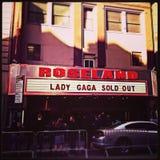 Dame Gaga Roseland Exterior Sign Lizenzfreie Stockfotos