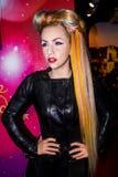 Dame Gaga - Wachsfigur stockbilder