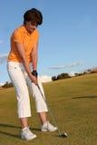 Dame Golfer Stock Foto's