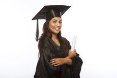 Dame Graduate Stock Foto