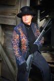 Dame Gunslinger Stockbilder
