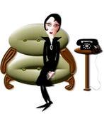 Dame in het wachten stock illustratie