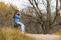 Dame Hiker Resting Royalty-vrije Stock Afbeeldingen