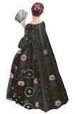 Dame im alten Kleid Stockbilder