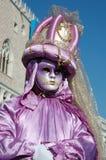 Dame im Kostüm am Karneval von Venedig 2011 Lizenzfreies Stockbild