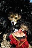 Dame im Kostüm an Venedig-Karneval 2011 Lizenzfreie Stockfotografie