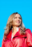 Dame im Rot Stockfoto