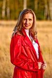 Dame im Rot Lizenzfreies Stockfoto