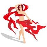 Dame im Rot Lizenzfreies Stockbild