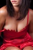 Dame im Rot Stockbilder