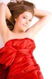 Dame im roten Kleid Lizenzfreies Stockbild