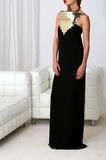 Dame im schwarzen Kleid Lizenzfreie Stockfotografie