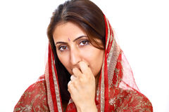 Dame indienne pensive Image stock
