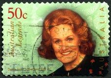 Dame Joan Sutherland Australian Postage Stamp foto de stock royalty free