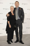 Dame Judi Dench, Daniel Craig, Judi Dench, (Dame) Judi Dench, James Bond. Dame Judi Dench and Daniel Craig at the phoptocall to announce the start or production Royalty Free Stock Images