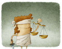 Dame Justice Lizenzfreie Stockfotos