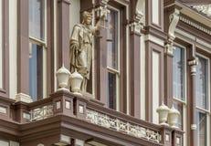 Dame Justice bij het Gerechtsgebouw van de Verdiepingsprovincie Royalty-vrije Stock Afbeelding