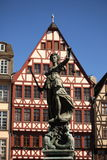 Dame Justice in Frankfurt lizenzfreies stockbild