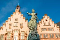 Dame Justice In Frankfurt, Duitsland Stock Fotografie