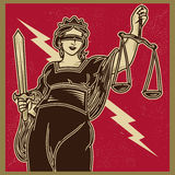 Dame Justice Propaganda Lizenzfreie Stockbilder