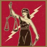 Dame Justice Propaganda Stockfotografie