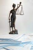 Dame Justice - Temida - Themis Royalty-vrije Stock Afbeelding