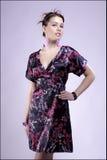 Dame in kleding Royalty-vrije Stock Fotografie