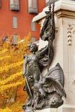 Dame Liberty General Rochambeau Statue Washington gelijkstroom stock afbeeldingen