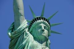 Dame Liberty Watching über Amerika Lizenzfreie Stockbilder