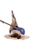 Dame met een gitaar Royalty-vrije Stock Foto