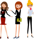 Dame mit drei Büros Lizenzfreies Stockfoto