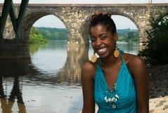 Dame mit einem Lächeln Stockfotos
