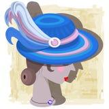 Dame mit einem modernen Hut Lizenzfreies Stockfoto