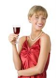 Dame mit großem Lächeln Lizenzfreie Stockfotos