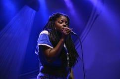 Dame am Montreal-Jazz Fest Lizenzfreie Stockbilder