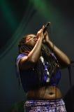 Dame am Montreal-Jazz Fest Lizenzfreies Stockbild