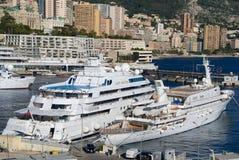 Dame Moura Yatch in Monte Carlo Stockbilder
