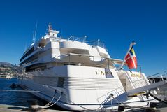 Dame Moura Yatch in Monte Carlo Lizenzfreies Stockbild