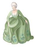 Dame in oude kleding vector illustratie