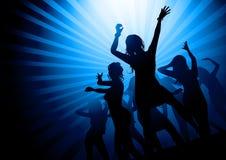 Dame-Party-Nacht lizenzfreie abbildung
