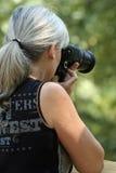 Dame Photographer royalty-vrije stock afbeelding