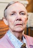Dame pluse âgé sévère image libre de droits