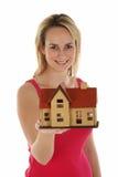 Dame Selling House Concept Stockbild
