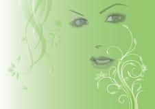 Dame Spring Lizenzfreies Stockfoto