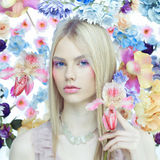 Dame Spring Royalty-vrije Stock Fotografie