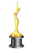 Dame Statue Trophy royalty-vrije illustratie