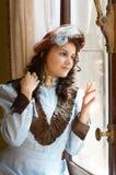 Dame in stijl Royalty-vrije Stock Fotografie