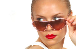 Dame With Sunglasses 3 lizenzfreies stockbild